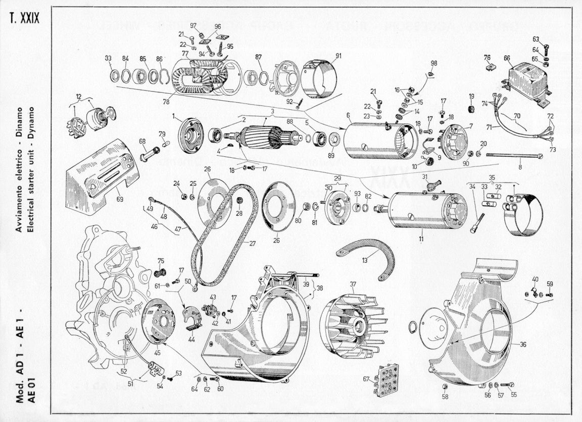 Schema Elettrico Dinamo E Regolatore : Schema elettrico dinamotore ape pannelli termoisolanti