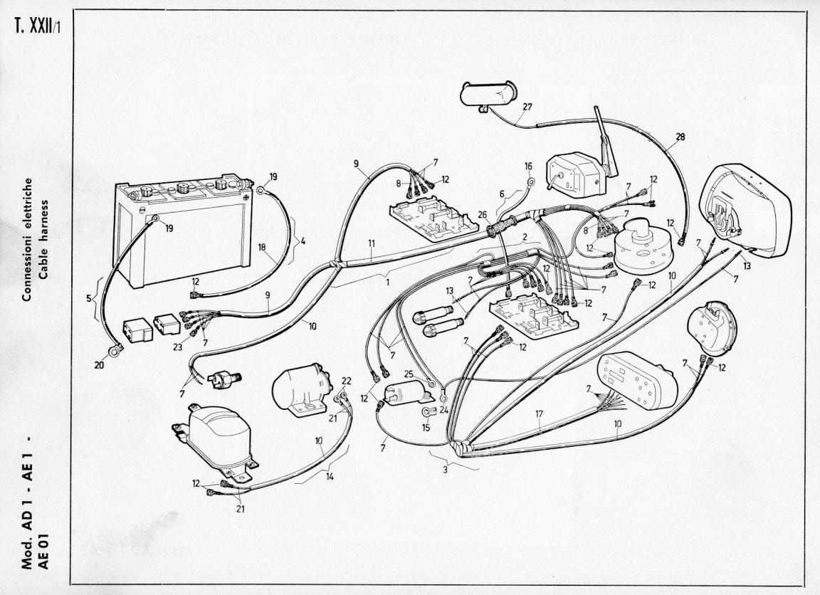 Schema Elettrico Ape 50 : Schema elettrico dinamotore ape pannelli termoisolanti